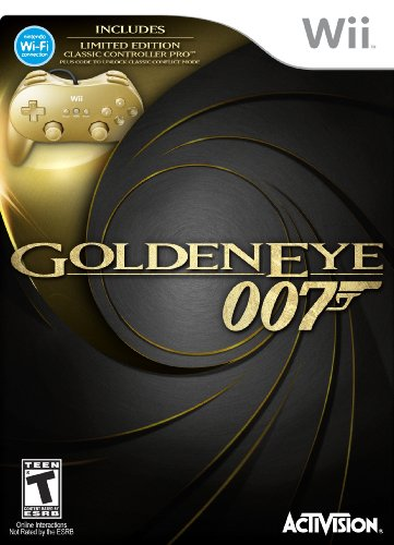James Bond 007: GoldenEye 007 Classic Edition Hardware Bundle with Gold Wii Classic Controller Pro
