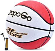 """Basketball 29.5"""" PU Leather Street Basketballs Streetball for Indoor Outdoor Games, Official Size 7 Baske"""