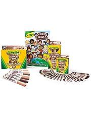 CRAYOLA Colours of The World – 24 kolory wielokulturowych kredek, markerów, ołówków i 48 stron pakiet sztuki kolorowania i aktywności książki, prezent dla dzieci, przybory szkolne, wiek 4, 5, 6,7,8,9+