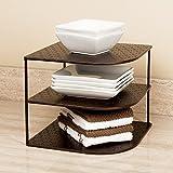 Seville Classics 3-Tier Corner Shelf Counter