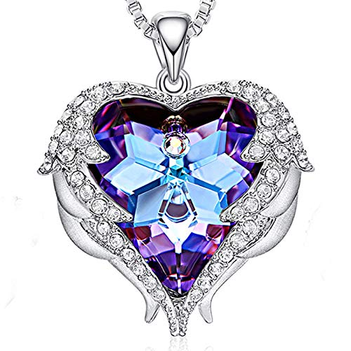 SNOWH Swarovski Necklaces for Women, Fashion Jewelry Gifts Love Heart Pendant Necklace for Her Mom Wife Friends Girls Birthday Gift Mother's Day Wedding ()
