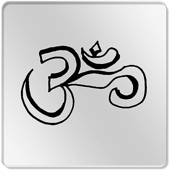 Azeeda 6 x Símbolo Religioso 95mm Cuadrado Acrílico Transparente ...