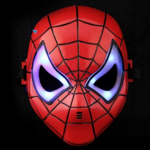 A Toy A Dream Led Glowing Superhero Halloween Children's Cartoon Mask Toy Glow with Lamp Man Mask -Multicolor Complete Series -