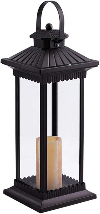Ffshop Lámparas de pie para salón Patio Exterior Villa Lámpara de Viento Jardín Lámpara de Calle LED Paisaje Lámpara de pie Lámpara de césped lámparas de pie para Dormitorio (tamaño : L):