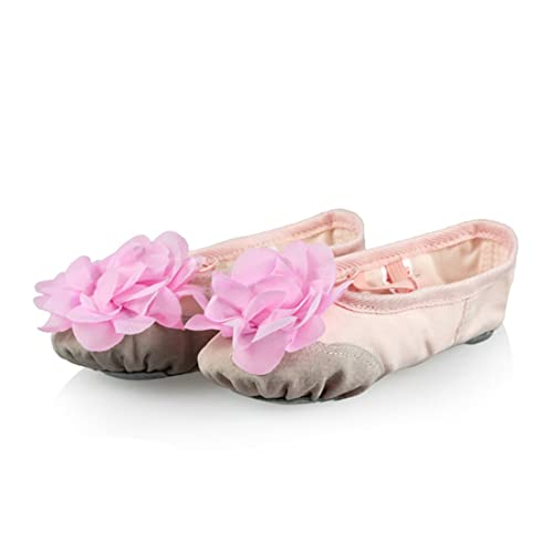 O&N Ballet Canvas Shoes Dance Gymnastic Shoes Split Sole for Children's & Adults Girls Ladies