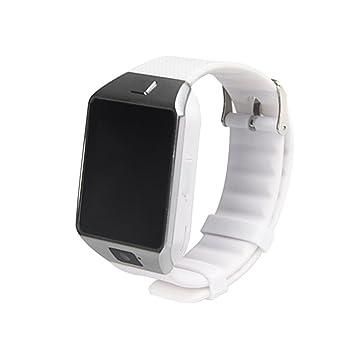 KOBWA DZ09 - Reloj Inteligente con Bluetooth para cámara, con Ranura para Tarjeta SIM/TF, Compatible con Android, iOS, iPhone, Samsung, HTC, LG, Sony, ...
