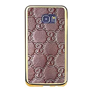 Samsung Galaxy S6 Edge Plus Gucci Logo Phone Case TPU Soft Golden Border Protector with Perfect Gucci Design