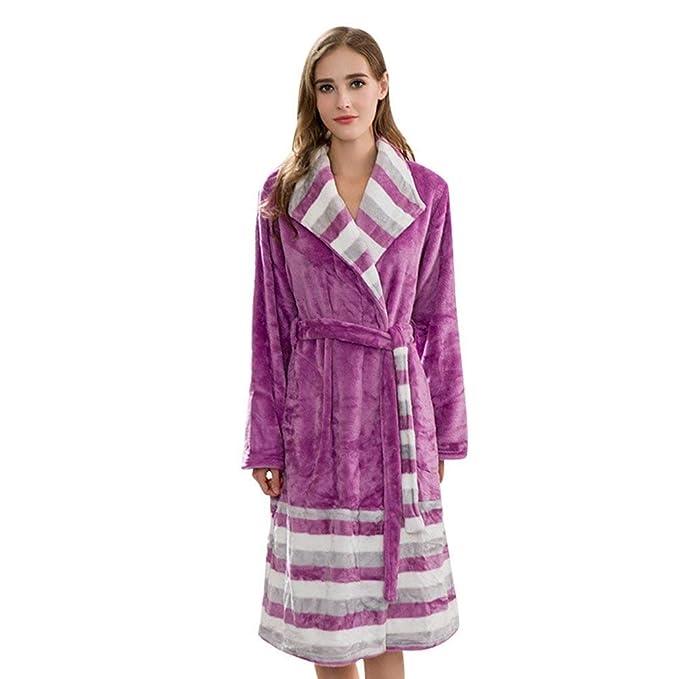 Albornoz Mujer Largos Invierno Manga Larga Flecos Informales Elegantes Especial Estilo Batas Fashion Termica Espesar Pijama
