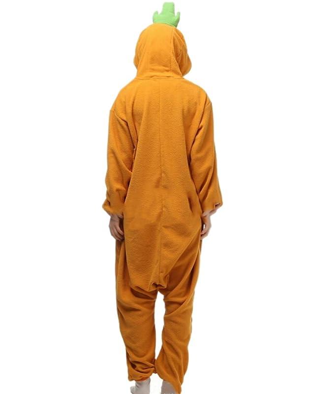 Fandecie Pijama Zanahoria, Onesie Modelo Animales para adulto entre 1,60 y 1,75 m Kugurumi Unisex.: Amazon.es: Ropa y accesorios