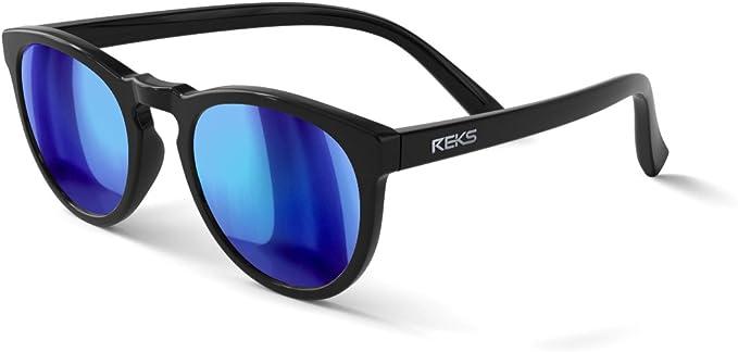 Amazon.com: REKS Unbreakable ROUND Sunglasses (Satin Touch Black ...