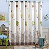 Melodieux Hot Air Balloon Light Filtering Grommet Top Curtains/Drapes Nursery, 100 96 inch, Coffee (1 Panel) Review