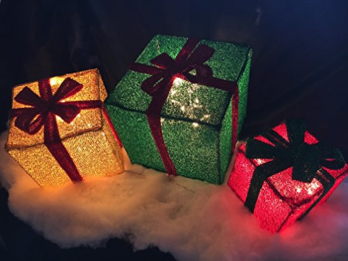 Outdoor Lighted Presents - 9
