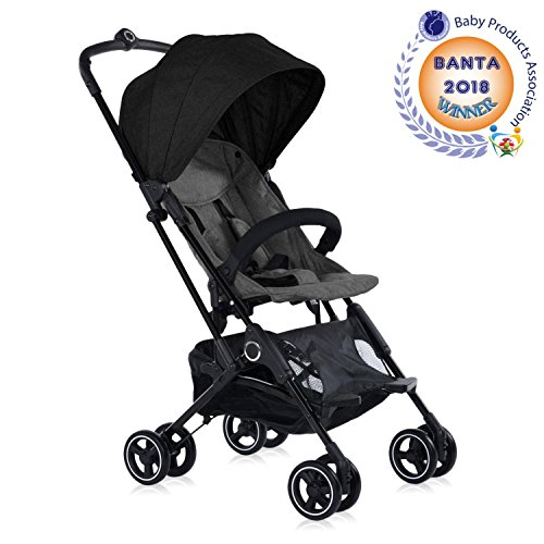 Roma Capsule Stroller in Grey, The One Handed Folding Holiday Buggy...