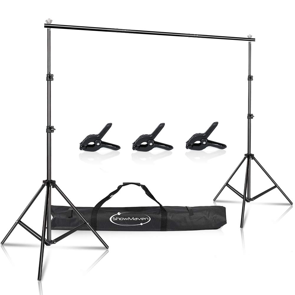 ShowMaven Background Stand, 6.5ftx10ft Adjustable Photo Backdrop Stand with Carry Bag for Photography Photo Video Studio, Photography Studio, Birthday Party by ShowMaven