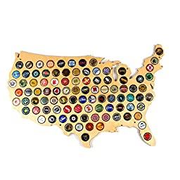 Kimler USA Beer Cap Map
