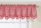 Lorraine Home Fashions Provence Tier Curtain Pair, 60 by 36-Inch, Red
