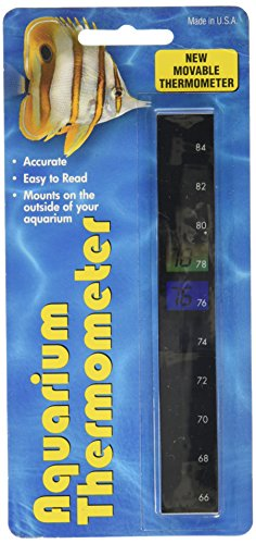LCR Hallcrest A-1005 Liquid Crystal Vertical Aquarium Thermometer (Fish Tank Thermoter)