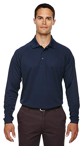 Extreme Eperformance Men's Long-Sleeve Piqué Polo, 3XL, CLASSIC NAVY 849