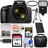 Cheap Nikon Coolpix P900 Wi-Fi 83x Zoom Digital Camera with 64GB Card + Battery + Case + Tripod + Filter + Flash + Kit