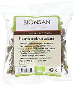 Bionsan Pistachos Crudos sin Cascara - 2 Paquetes de 100 gr - Total : 200 gr