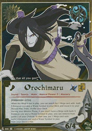 Naruto - Orochimaru [Forbidden Jutsu] 666 - Foretold Prophecy - Super Rare - Foil - 1st Edition