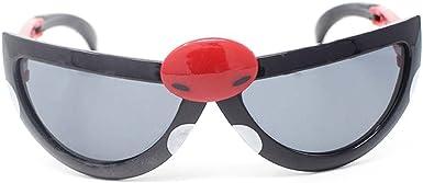 2 Blu 2 x Coccinella Per Bambini Trasformare gli Occhiali da Sole Offrendo Protezione Solare Unisex Ragazze Ragazzi Carino Retro Tondi Stile Novit/à Sfumature
