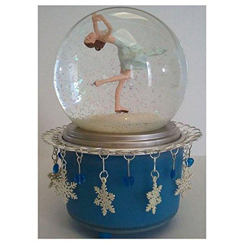 Peggy Fleming Salt Lake 2002 Olympic Medalist Musical Snow Globe Hallmark Limited Edition Pr2437