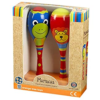 Orange Tree Jouets - Lion et Frog - Maracas jouet musical