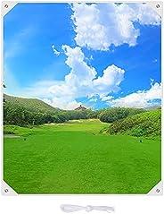 """KYTAI 59"""" x 70"""" Golf Hitting Cloth Hanging Circle Backstop for Hitting Driving Range Practice Target"""