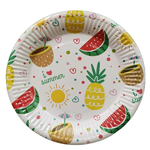 30 Pcs Paper Pallet, Pineapple Pattern Paper Cake Tray Barbecue Disposable Utensils for Party or Wedding Tableware Decoration