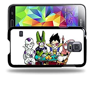Case88 Designs Dragon Ball Z GT AF Son Goku Super Saiyan Vegeta Buu Freezer & Cell Protective Snap-on Hard Back Case Cover for Samsung Galaxy S5