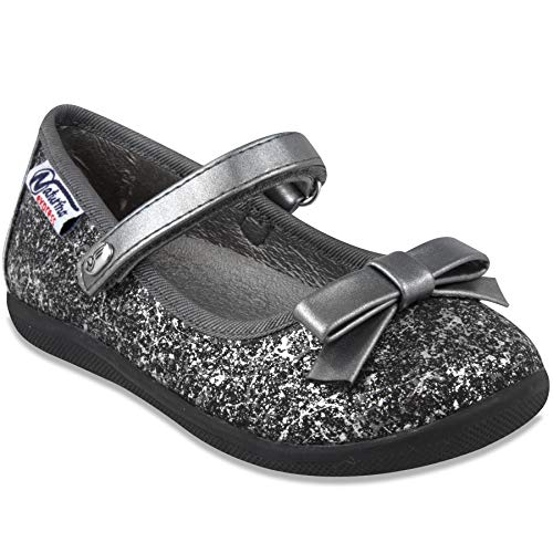 Picture of Naturino Express Kids Marietta Girls Slip On Mary Jane Flat Dress Shoe Loafer Black 10 Toddler