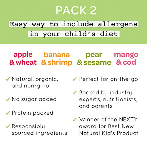 Early Allergen Introduction Baby Food: Inspired Start Pack 2, 3 oz. (Pack of 8 baby food pouches) - Non-GMO, include wheat, sesame, shrimp and cod in baby's diet by Inspired Start (Image #7)