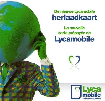 Lycamobile Carte Sim Pour La Belgique Belgium Avec 5 Euros De Credit Precharge Un Autre 7 5 Euros Lors De L Inscription Amazon Fr High Tech