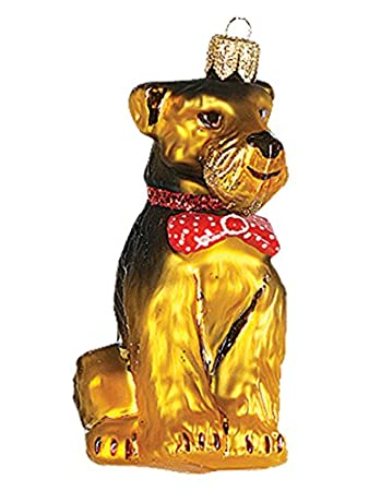 Amazon De Christbaumschmuck Weihnachtskugel Hund Airdaile Terrier