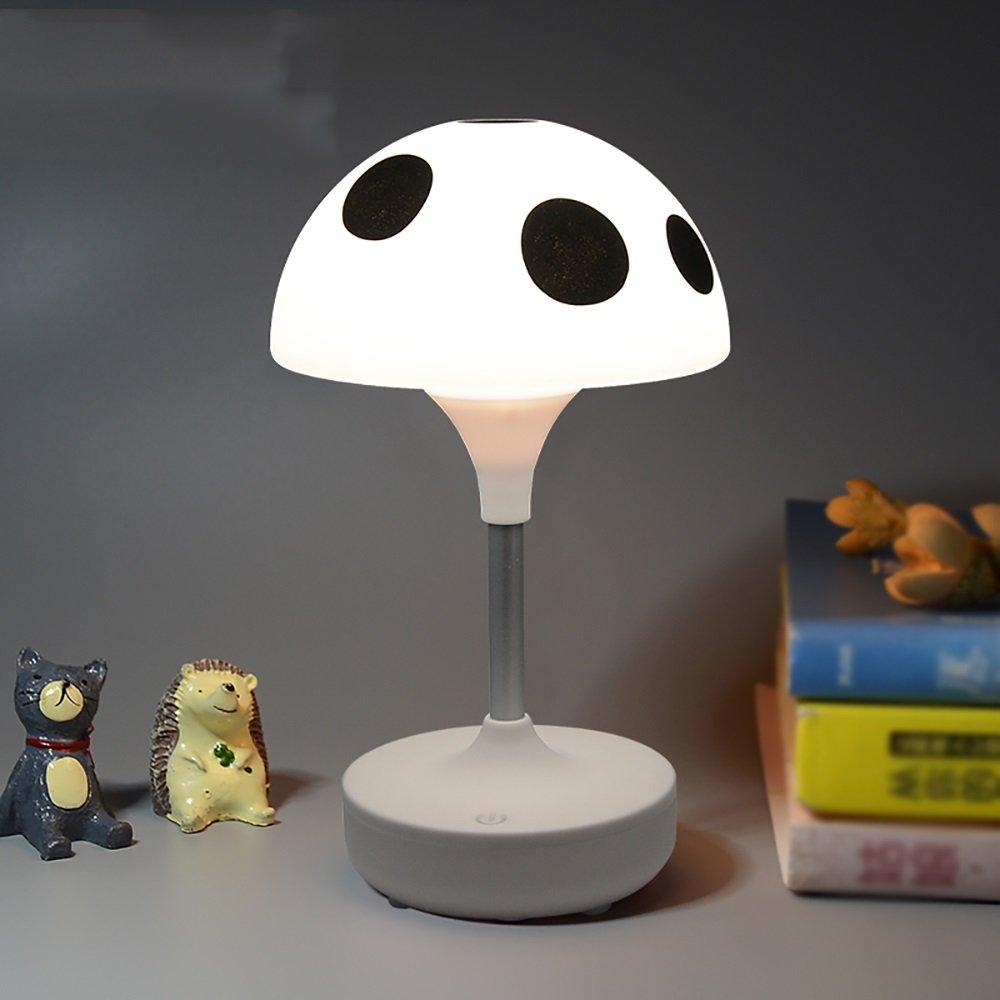 xiyunhanナイトライトかわいいモダンタッチMushroom Night Light USB充電式LED装飾夜ライトギフトAtmosphereギフトランプホワイトピンクブルー ホワイト  ホワイト B07F6564W8