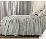Subtle Black and White Ticking Striped Bedspread, Classic Stripe!