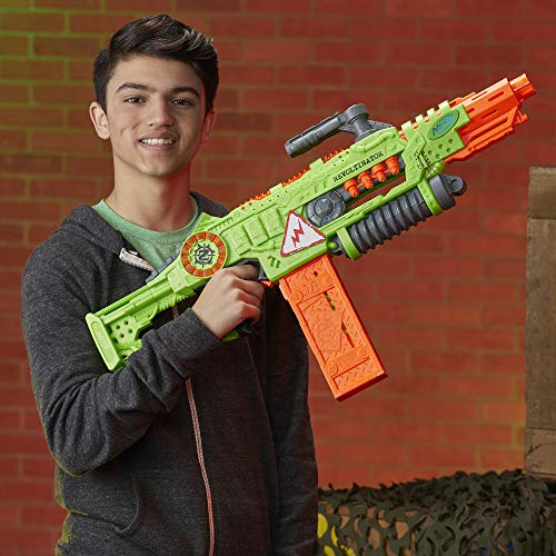 512OvuCTfZL - NERF Revoltinator Zombie Strike Toy Blaster with Motorized Lights Sounds & 18 Official Darts for Kids, Teens, & Adults