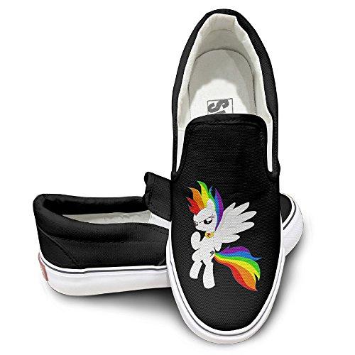 DHome Super Dash Rainbow Athletic Unisex Flat Canvas Sneaker Shoes 43 Black (2015 Rainbow Vacuum compare prices)