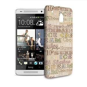 Phone Case For HTC 601e (One Mini) M4 - 50s Soda Shop Icecream Hardshell Wrap-Around