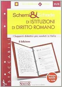 Schemi & schede di istituzioni di diritto romano