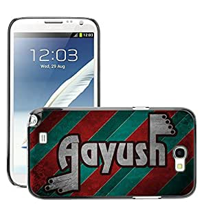 Hot Style Cell Phone PC Hard Case Cover // M00043923 style aayush typography retro // Samsung Galaxy Note 2 II N7100