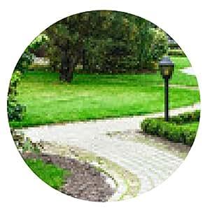 alfombrilla de ratón Hermoso jardín de primavera - ronda - 20cm
