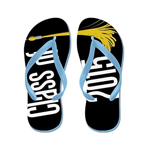 Cafepress Examen Klass Av 2015 Flip Flops - Flip Flops, Roliga Rem Sandaler, Strand Sandaler Caribbean Blue