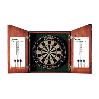 D4223 Accudart Union Jack Dartboard Cabinet Set