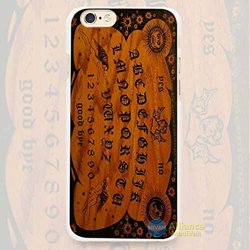 MISC Brown Black Spirit Board Pattern iPhone X Case Ghost Theme I XS Cover Halloween Grave Yard Haunt Board Game Haunting Themed Creepy Fun Paranormal Activity, Plastic