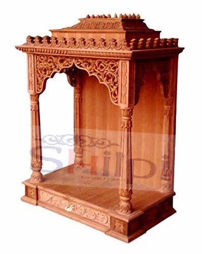 Shilpi Wooden Rajasthan Desing Temple Handmade Wooden Mandir