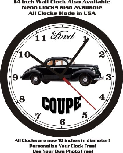1939 FORD STANDARD COUPE WALL CLOCK-FREE USA SHIP! for sale  Delivered anywhere in USA