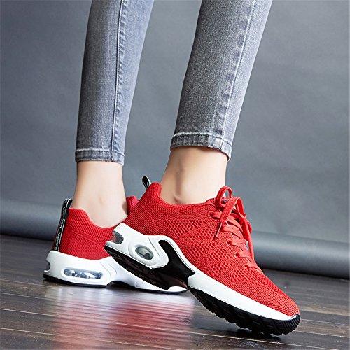 Sneakers Eu Running Course Mimiyaya Homme Sports Baskets Femme Air Fitness Rouge De 44 Sport Chaussure Gym 34 ZpHZ7wq