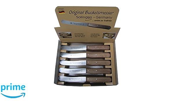 Friedrich Engels y CIE GmbH Cuchillo de Mesa con Mango de Madera (en Dispaly, 22 cm), Color Beige: Amazon.es: Hogar